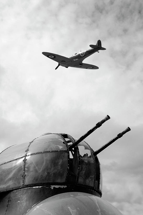 Spitfire And Lancaster Aircraft Photograph by Johncairns