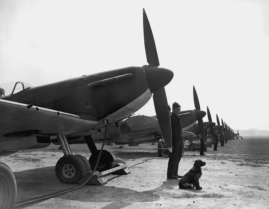 Spitfires At Duxford Photograph by Fox Photos