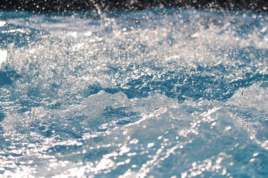 Splash Zone - Water and Light Frozen in Motion 12 by TJ Fox