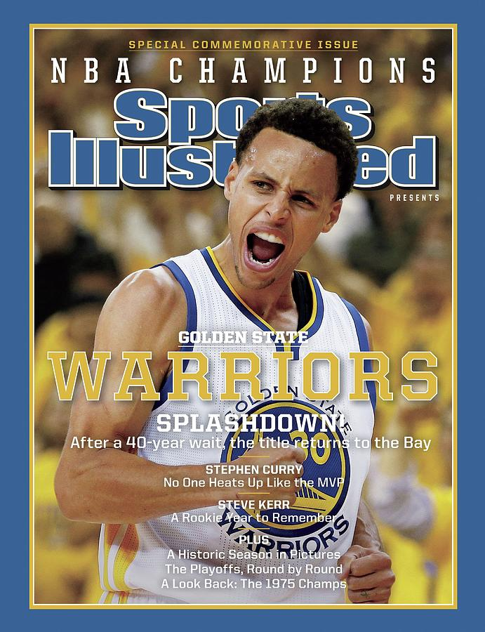 Splashdown Golden State Warriors 2015 Nba Champions Sports Illustrated Cover Photograph by Sports Illustrated