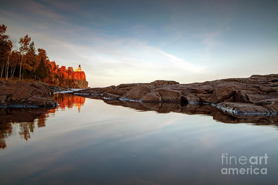 1558 Split Rock Lighthouse Reflections by Steve Sturgill