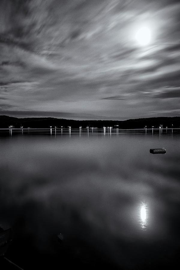 Spofford Lake Moon by Tom Singleton