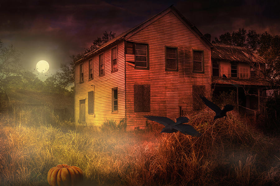 Spooky Halloween House by Louise Hill