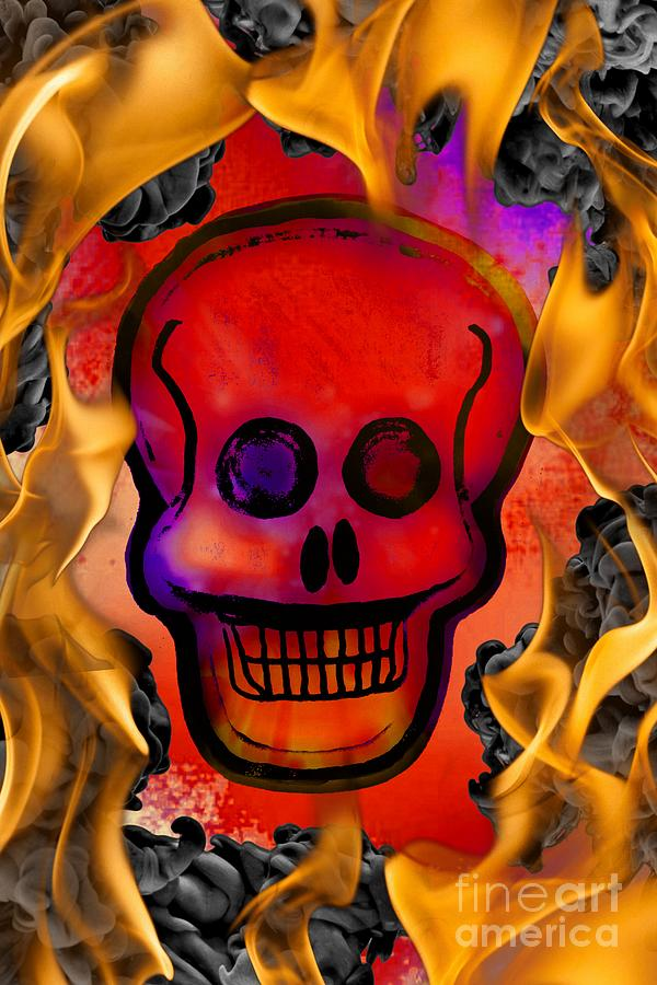 Spooky Skull by Rachel Hannah