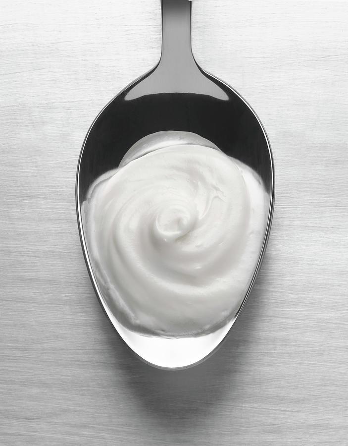 Spoonful Of Yogurt Photograph by Jonathan Kantor