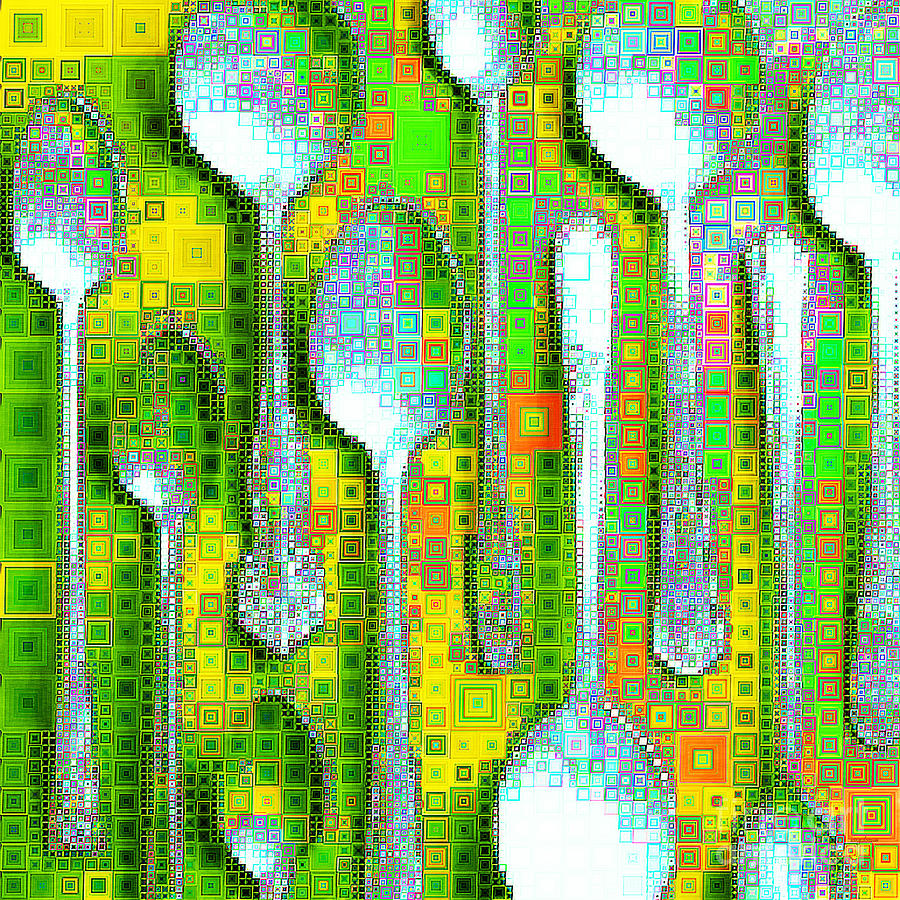 Spoons In Abstract Squares 20190131sq by Wingsdomain Art and Photography