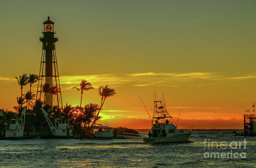 Sportfisher and Lighthouse by Tom Claud