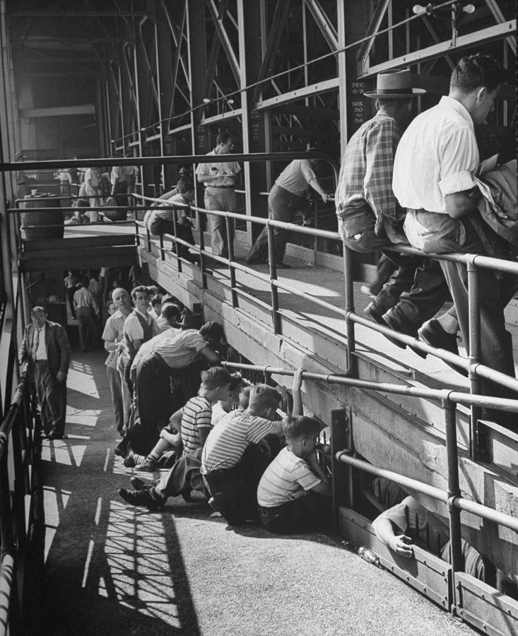 Sports Fans Attending Baseball Game At E Photograph by Ed Clark