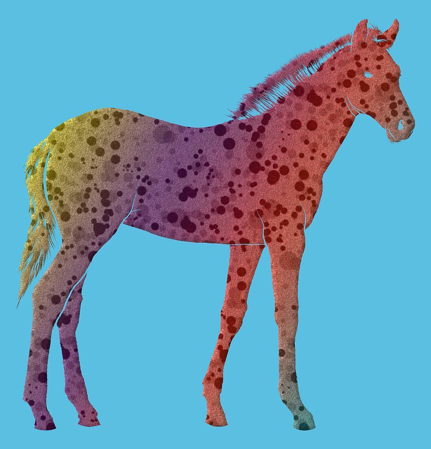 Foal Digital Art - Spotted Foal 375 - Digital Art by Ericamaxine Price