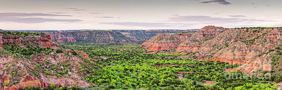 Sprawling Panorama Of Palo Duro Canyon And Capitol Peak - Texas State Park Amarillo Panhandle Photograph