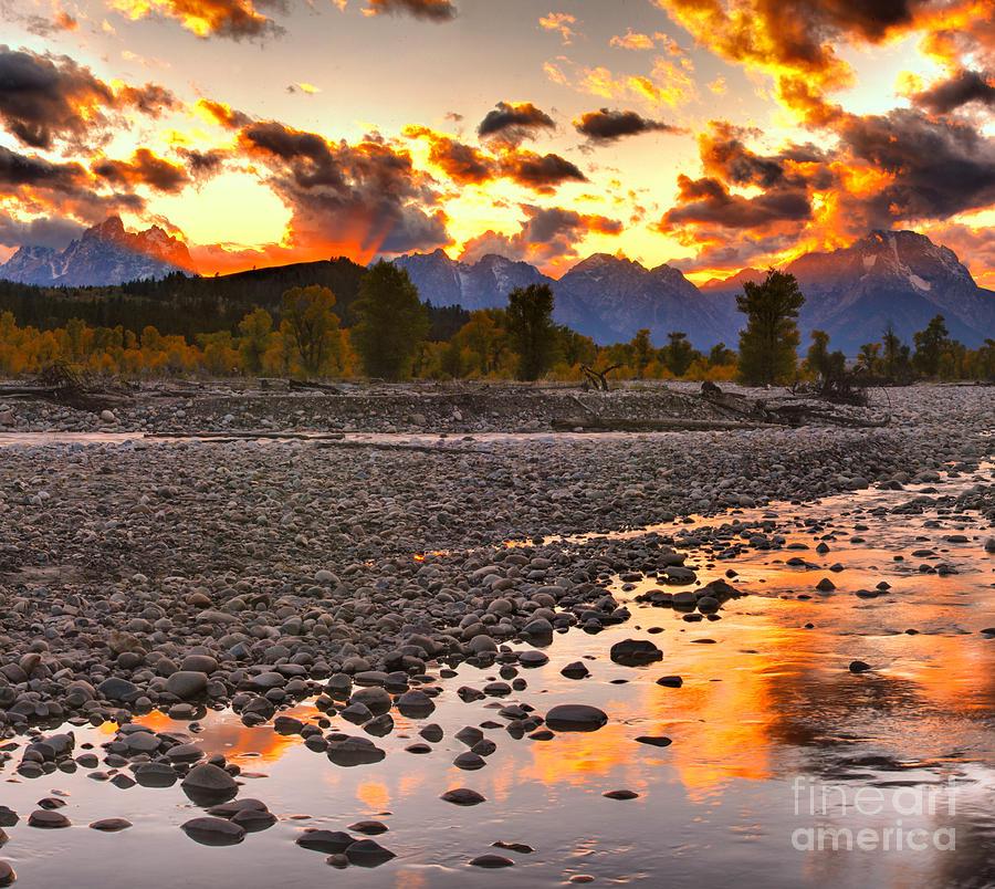 Spread Creek Fire On The Tetons by Adam Jewell