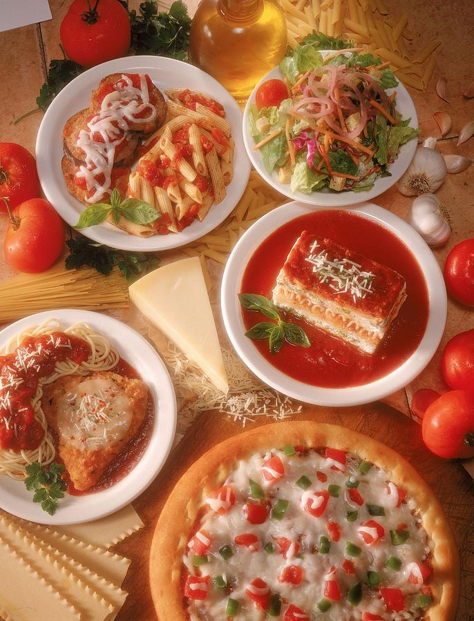 Spread Of Italian Food Photograph by Jupiterimages