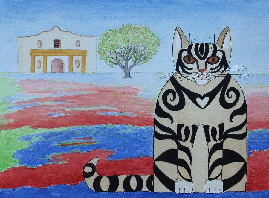 Spring Alamo Cat by Vera Smith