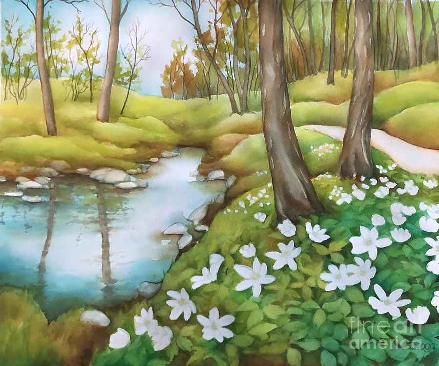 Spring at creek by Inese Poga