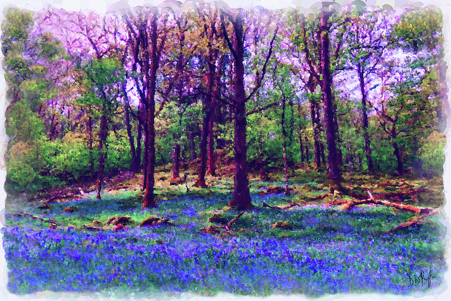 Spring Bluebell Woods by Digital Painting