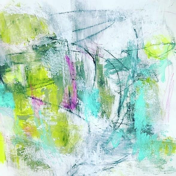 Abstract Painting - Spring Dance by Patricia Byron