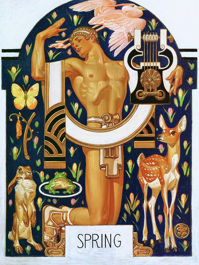 Joseph Christian Leyendecker Painting - Spring - Digital Remastered Edition by Joseph Christian Leyendecker