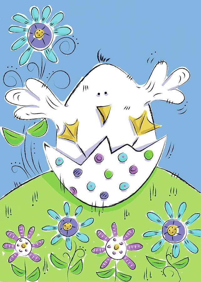 Spring Easter Eggs Ii by Deidre Mosher