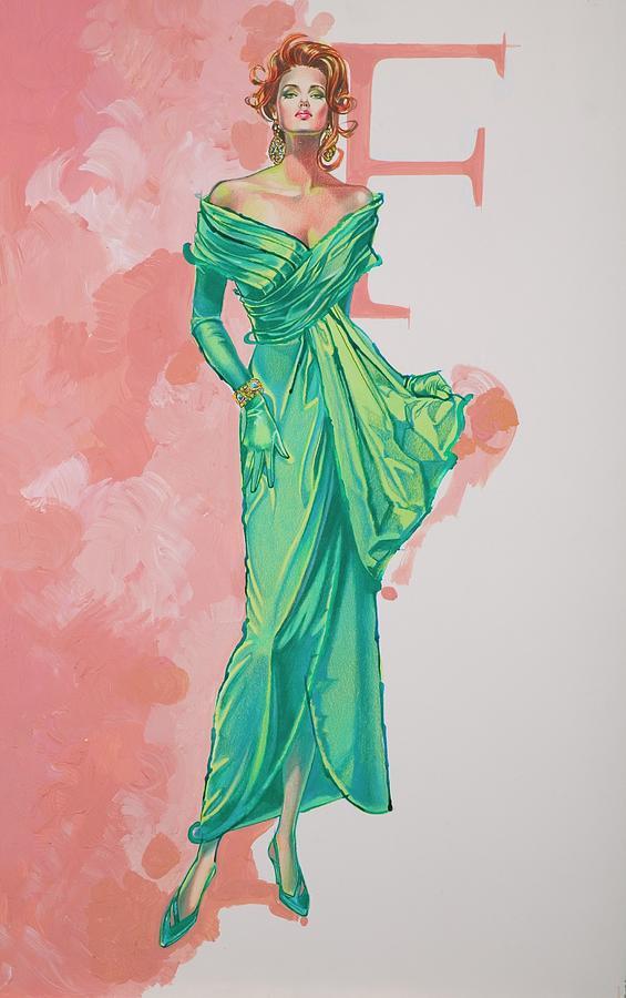 Fashion Illustration Painting - Spring Fling by Barbara Tyler Ahlfield