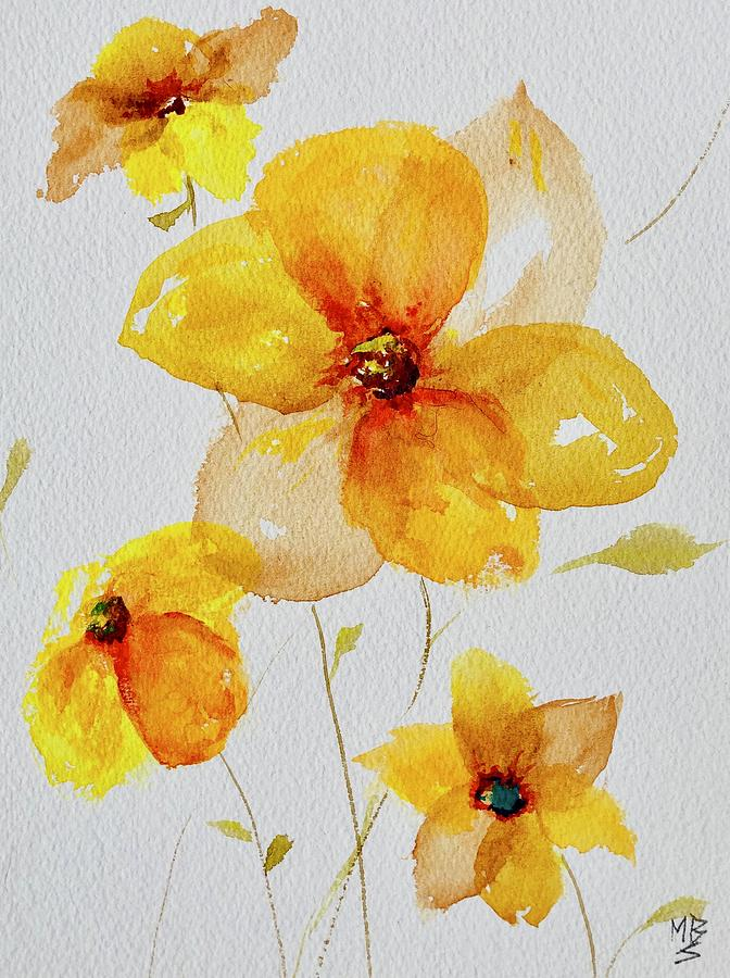 Spring Flowers in Yellow by Mary Schiros