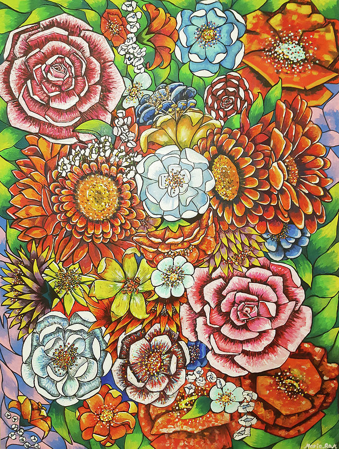 Spring garden flowers by MARIA ROM
