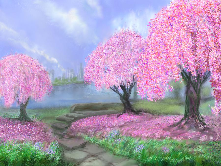 Spring In Blossom Park by Robert Rearick