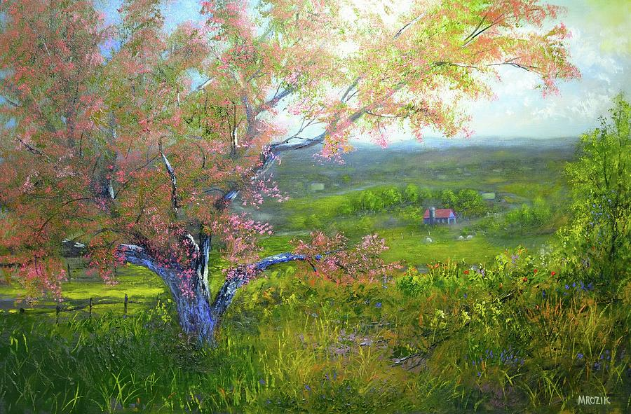 Spring In The Countryside Painting