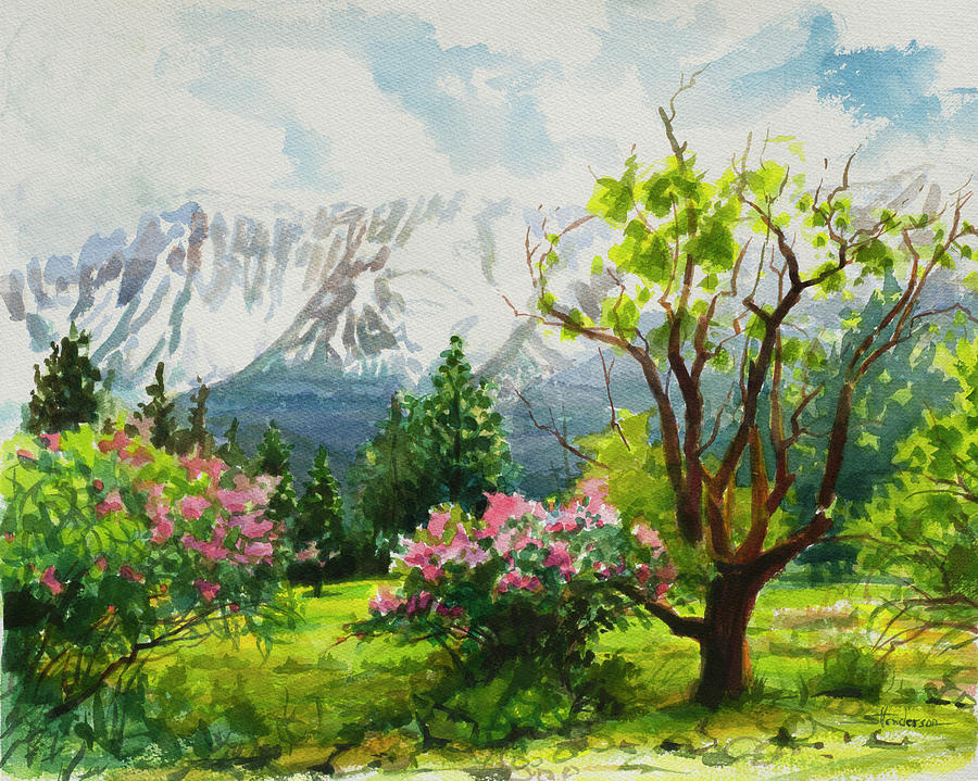 Landscape Painting - Spring In The Wallowas by Steve Henderson
