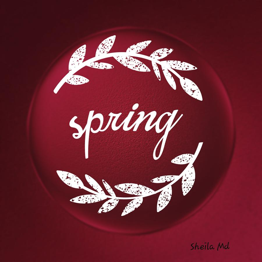 Spring into Glass Marble  Color  by Sheila Mcdonald