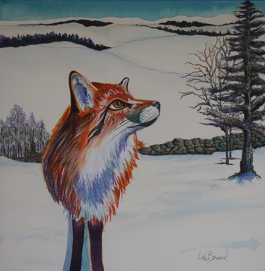 Fox Painting - Spring Is In The Air by Dale Bernard