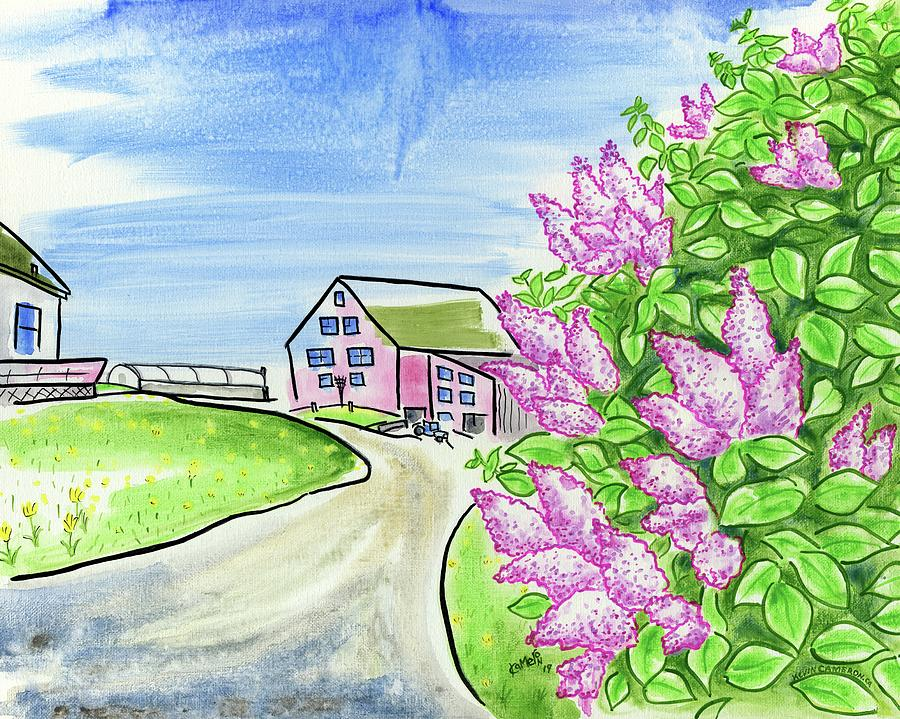 Lilac Painting - Spring Lilac by Kevin Cameron