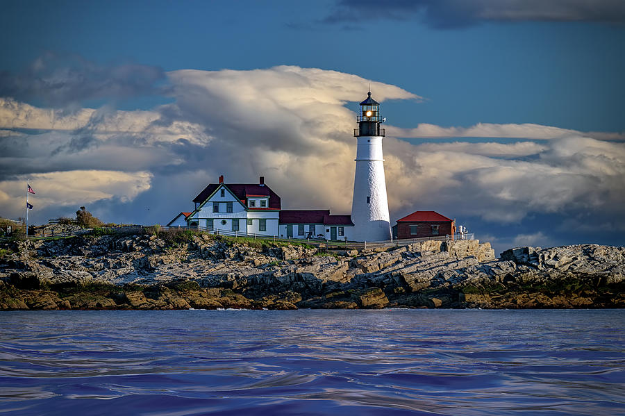 Spring Morning at Portland Head Lighthouse by Rick Berk