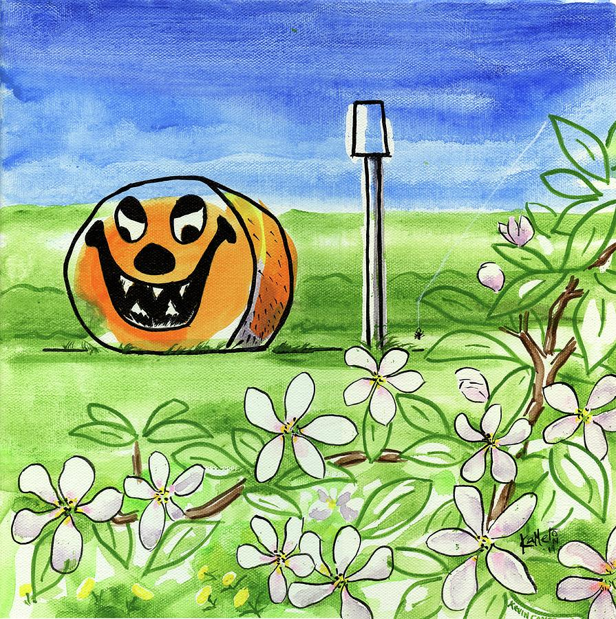 Halloween Painting - Spring-o-ween by Kevin Cameron