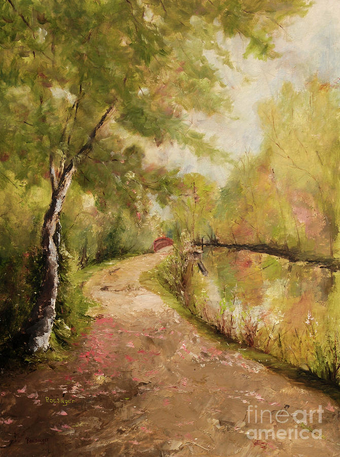 Lambertville Painting - Spring on the Canal by Paint Box Studio