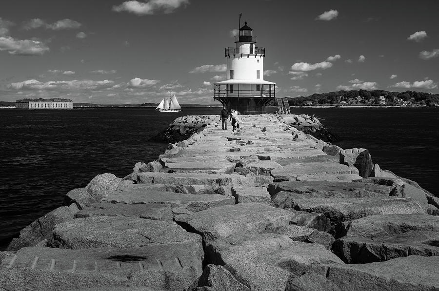 Spring Point Ledge Light by Todd Henson