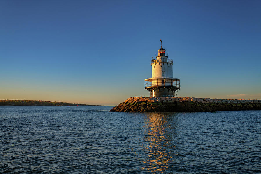 Spring Point Ledge Lighthouse on a Spring Morning by Rick Berk