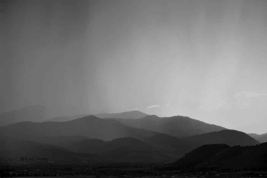 Spring Rain in Black and White by Kae Cheatham
