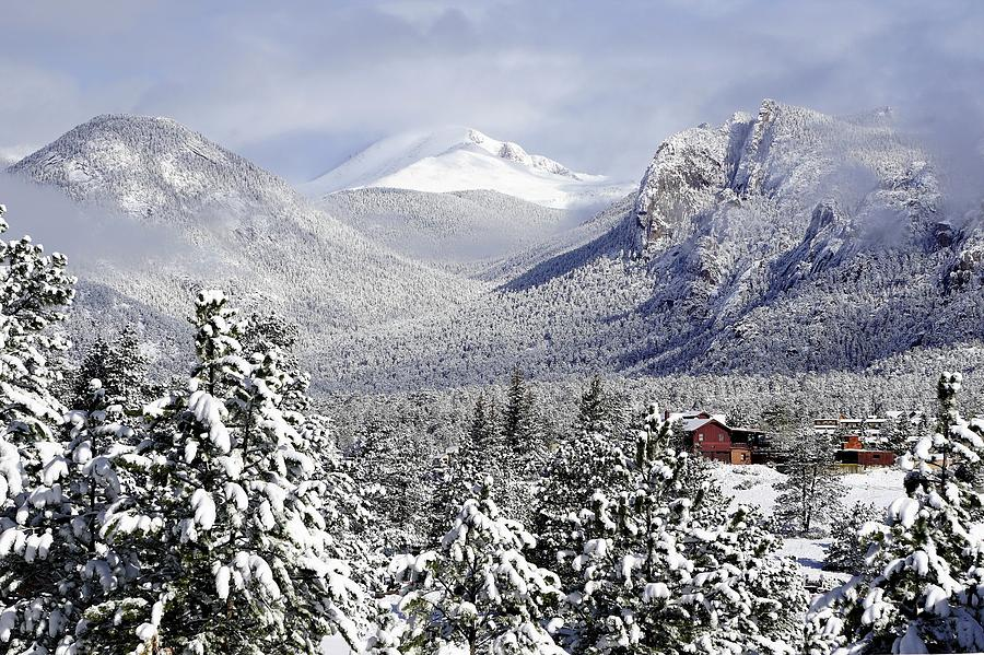Spring Snow in Estes Park Colorado by Tranquil Light Photography