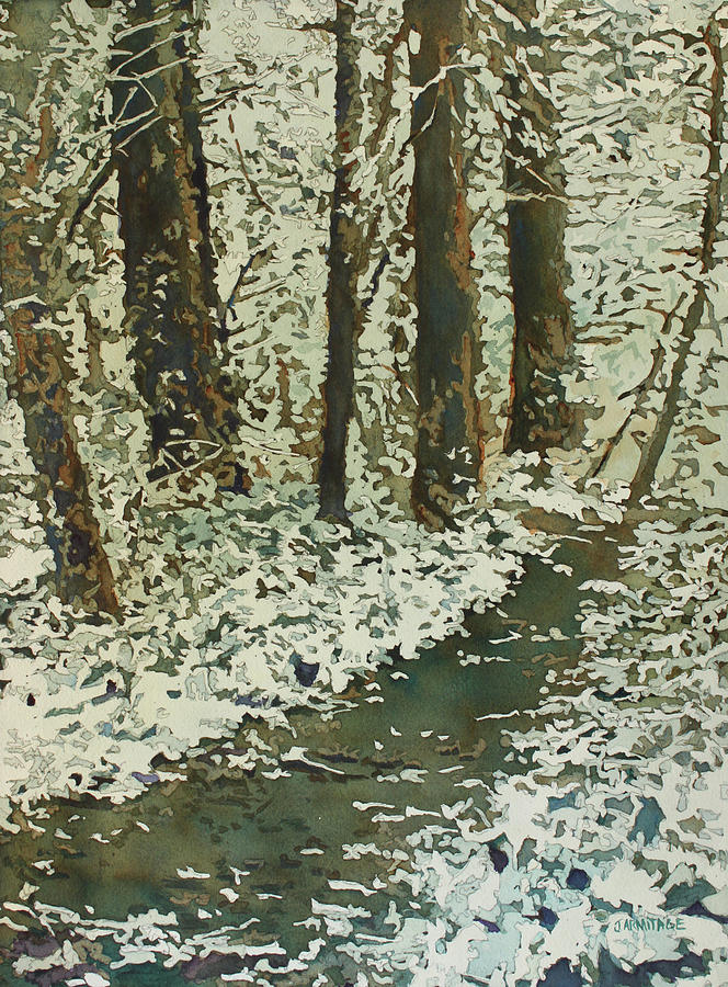 Spring Snow On Croisan Scenic by Jenny Armitage