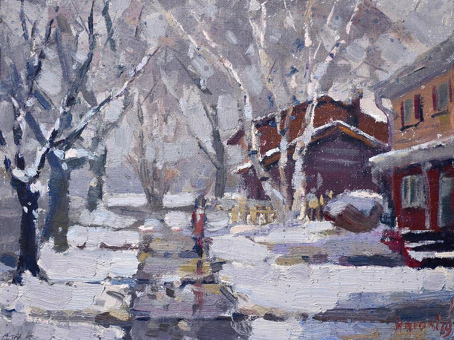 Snoe Painting - Spring Snow  by Ylli Haruni