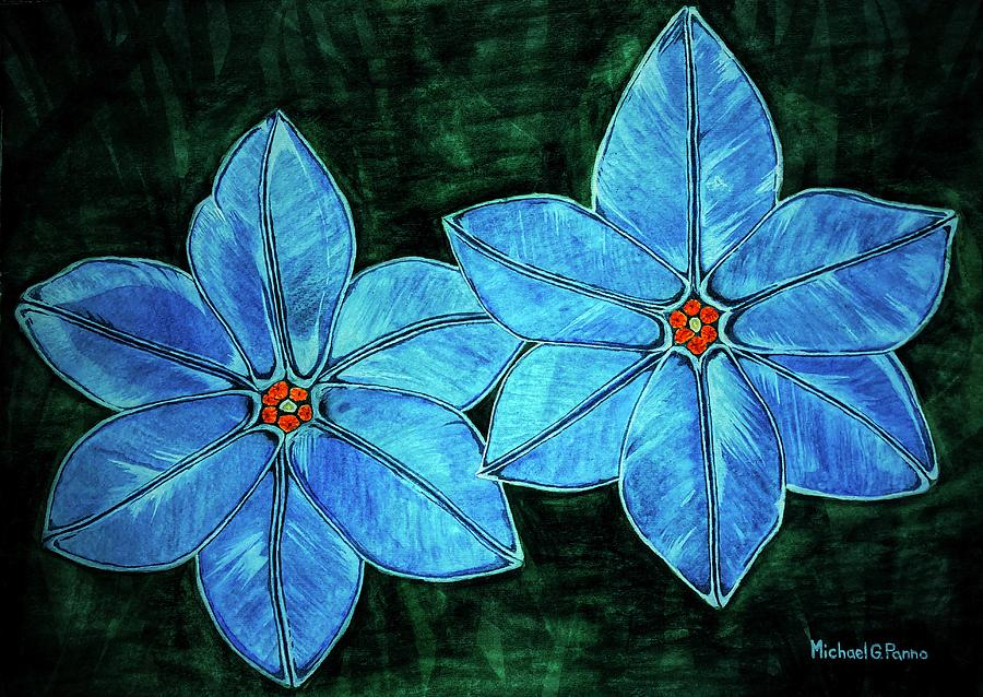 Flowers Painting - Spring Star Flowers by Michael Panno