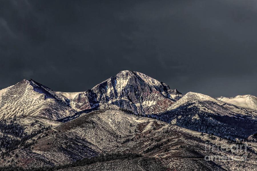 Spring Strom Brewing Over Longs Peak by Jon Burch Photography