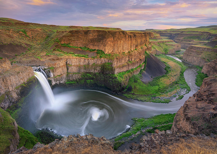 Spring Sunset at Palouse Falls by Kristen Wilkinson