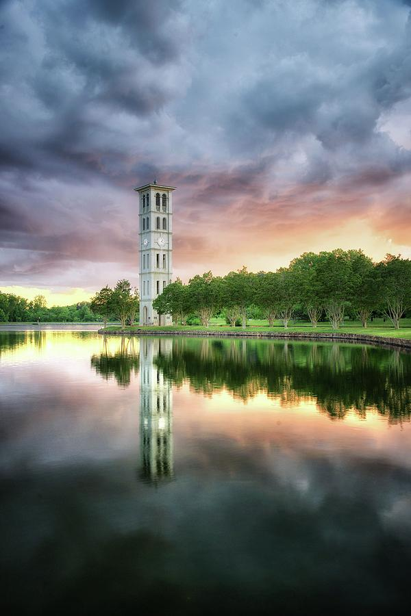 Spring Sunset at the Bell Tower by Blaine Owens Photography