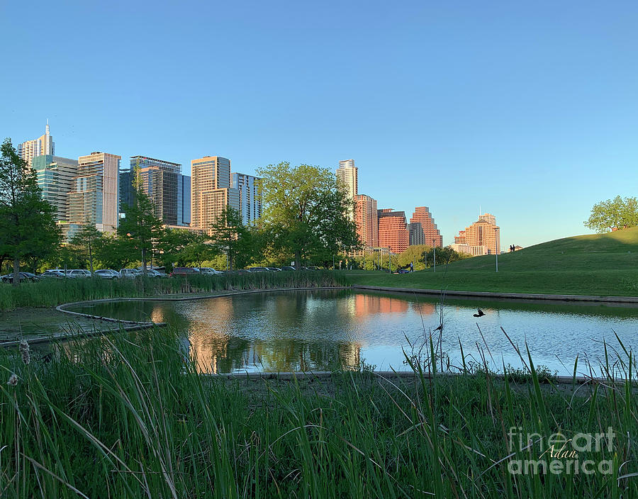Butler Park Photograph - Spring Sunset Austin Skyline Butler Park Horizontal by Felipe Adan Lerma