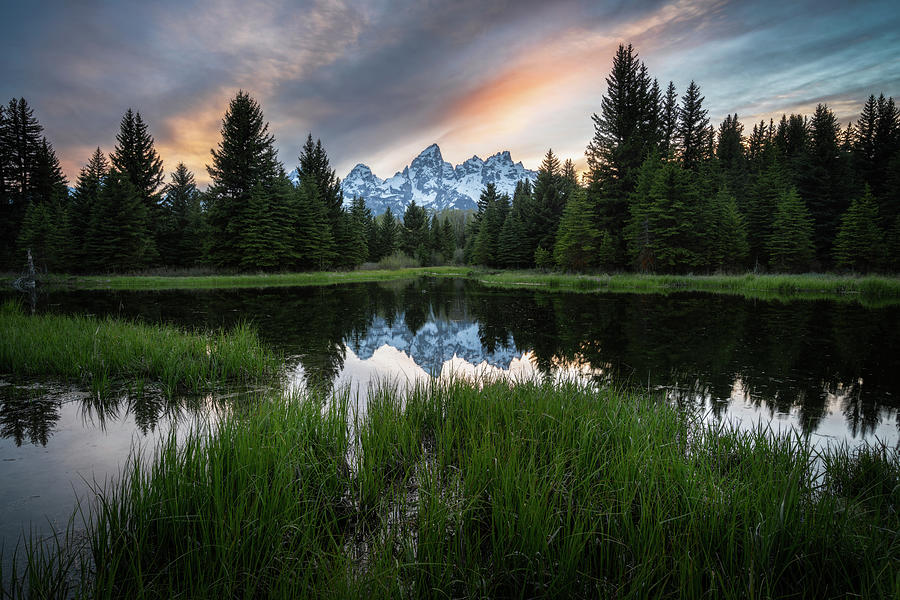 Spring Sunset in Grand Teton National Park by James Udall