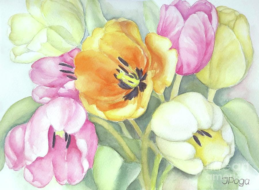 Spring tulips by Inese Poga