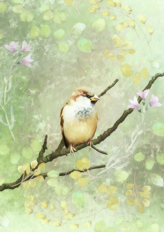 Design Mixed Media - Spring Unfolding II by Amanda Lakey
