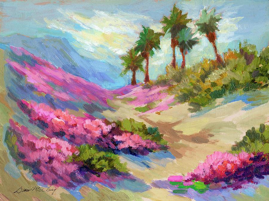 Desert Painting - Spring Verbenum Flowers by Diane McClary