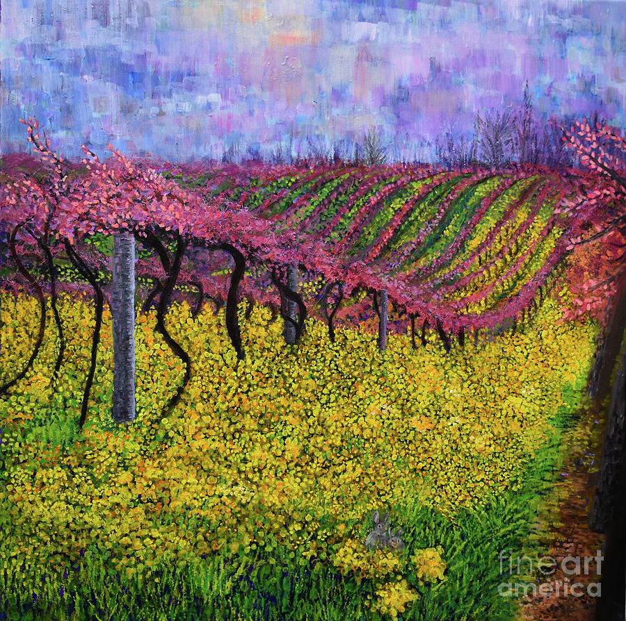 Spring Vineyard by Anne Cameron Cutri